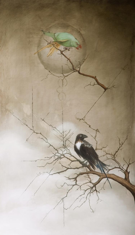 Ben Lincoln Parakeet Raven, 201 - benlincolnart | ello