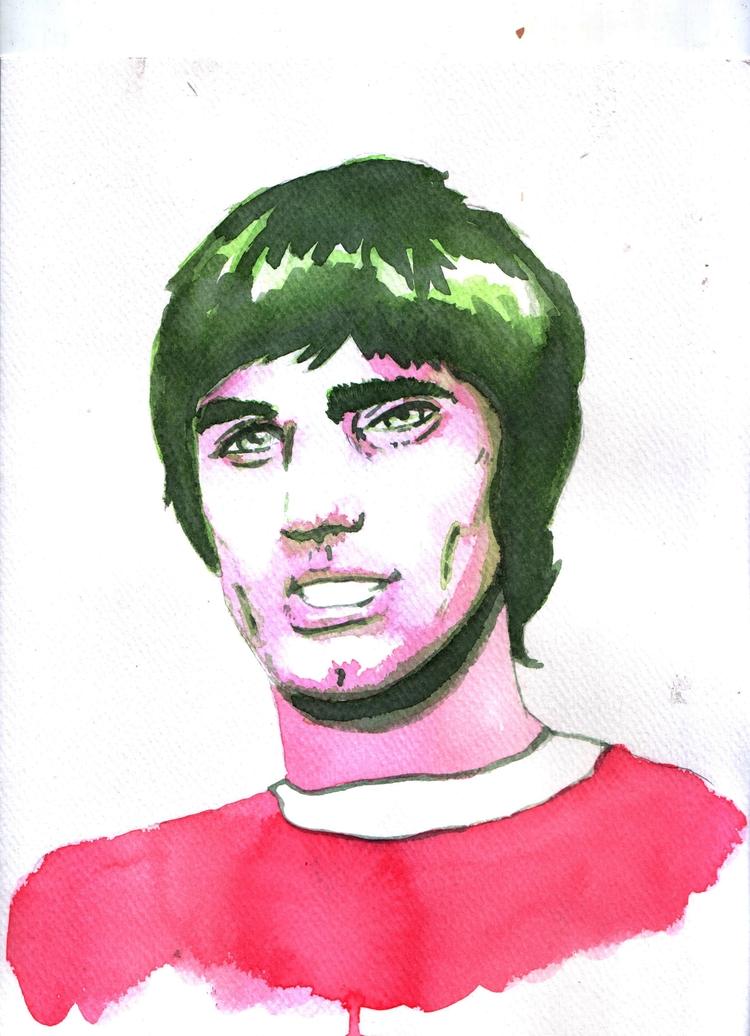 watercolor sketch George - georgebest - nkdk | ello