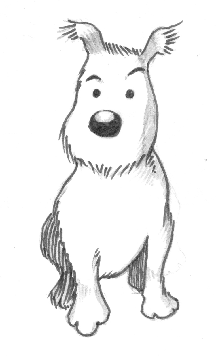 Sketch Milu Tin tin pet - milu, sketch - nkdk | ello