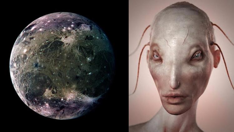 Ganímedes, la luna de Júpiter,  - codigooculto   ello