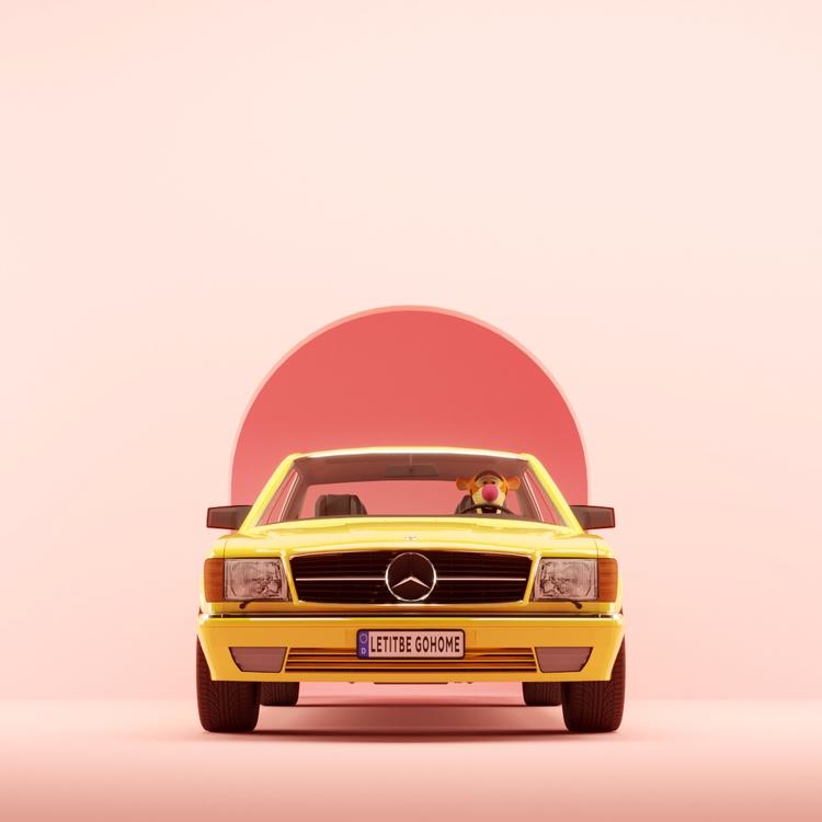 home - pink, c4d, Mercedes, yellow - umbertodaina | ello