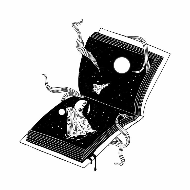 Discover Worlds - illustration - normanduenas | ello