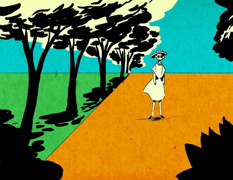 days park - illustration, art, endofsummer - vryaznorange | ello