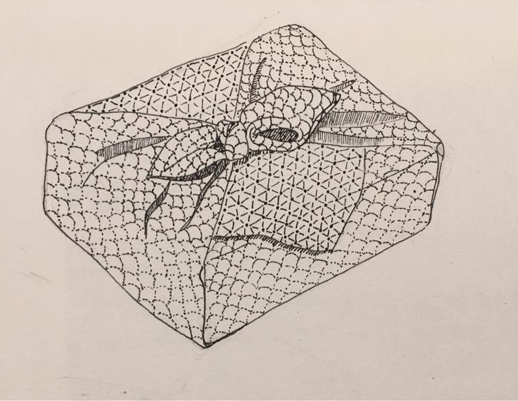 包み drawing traditionally wrappe - mimisdrawingbook | ello