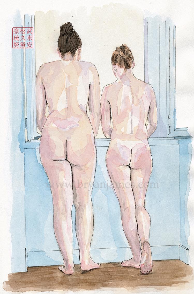 Room view - watercolour ink pap - bryanjamesart | ello