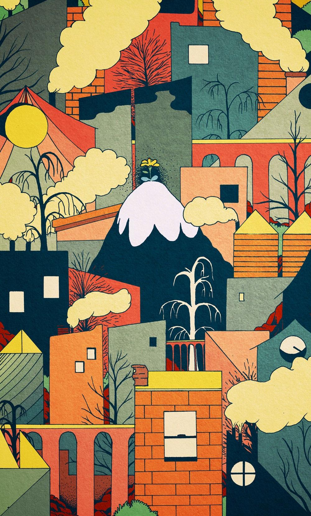 illustration, patterndesign, citypattern - vryaznorange | ello