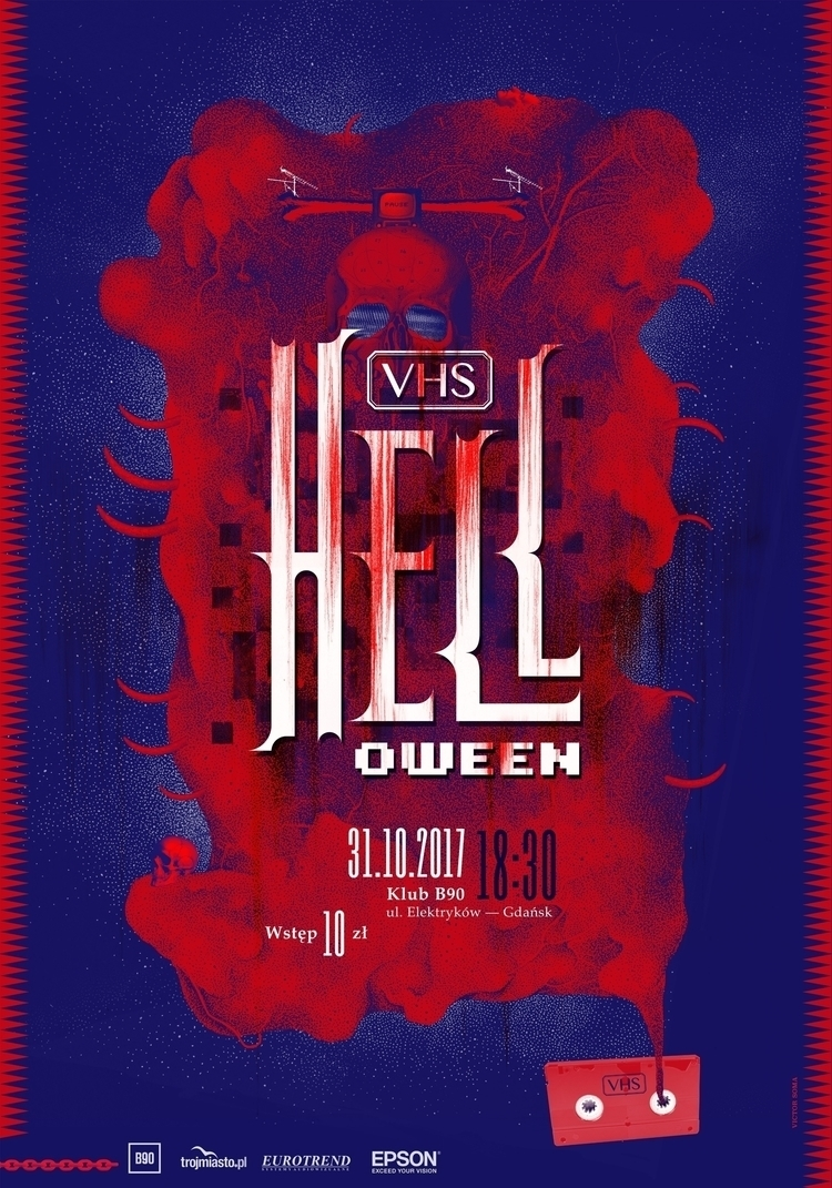 poster VHS HELL event dedicated - victorsoma | ello
