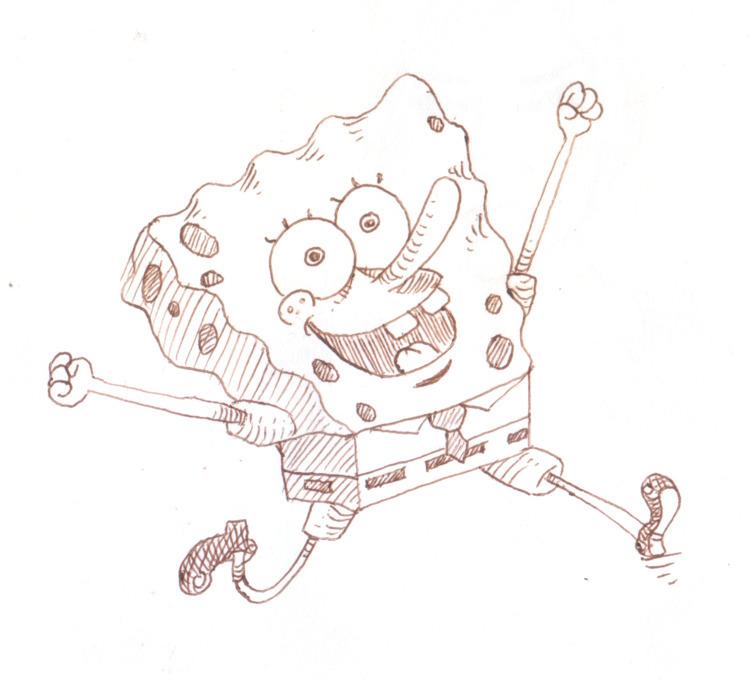 ink sketch spongebob squarepant - nkdk | ello