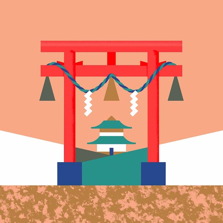 Torii - illustration, artwork, japan - alconic | ello