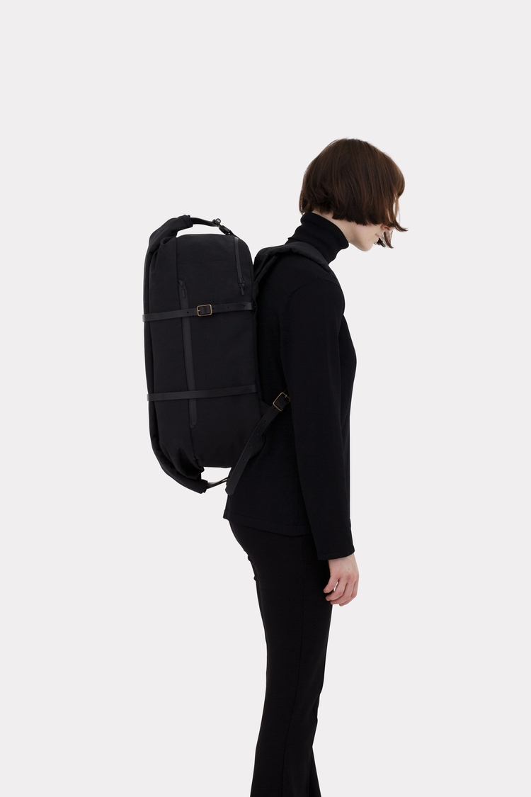 Cargo Backpack Solid Black spec - thisispaper | ello