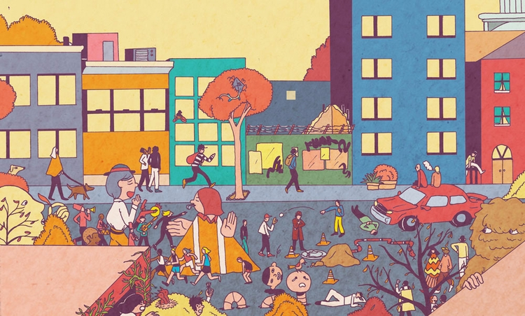Fall city events - illustration - vryaznorange | ello