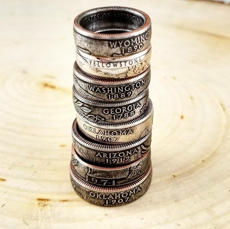 Rings Check handmade coin rings - midnightjo | ello