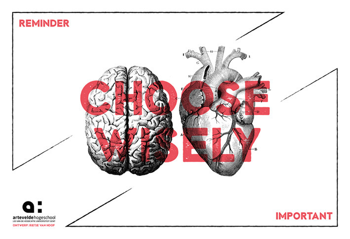 Design desk pad 'Choose wisely - rietjevanhoof | ello