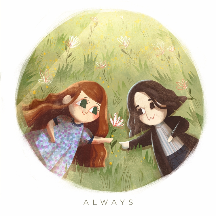 harry potter fan art lil Severu - lynhuiong | ello