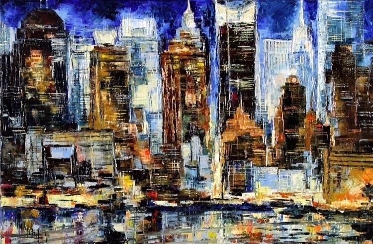 York II Bruno Oil Canvas 24X36  - bitfactory | ello