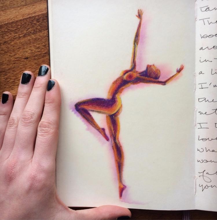 softpastel, pastel, figure, dance - betsykevans | ello