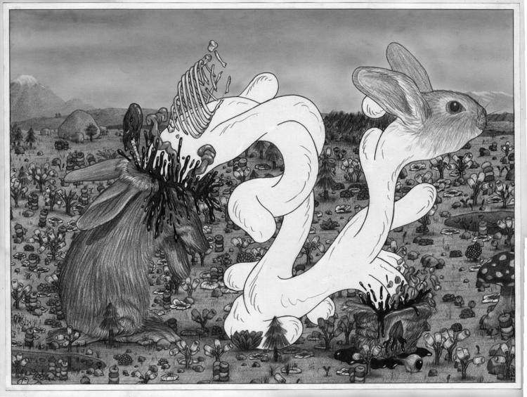 Bunny Parasite Tim Furey pencil - timfurey | ello