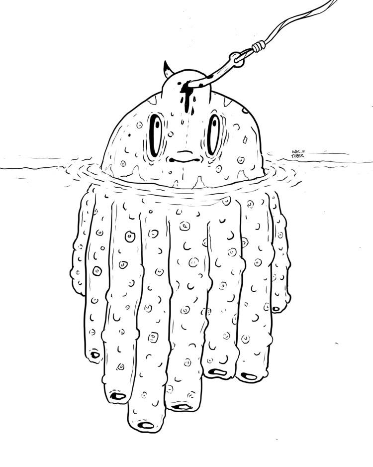 IIV — «Underwater - inktober, illustration - flatdrop | ello