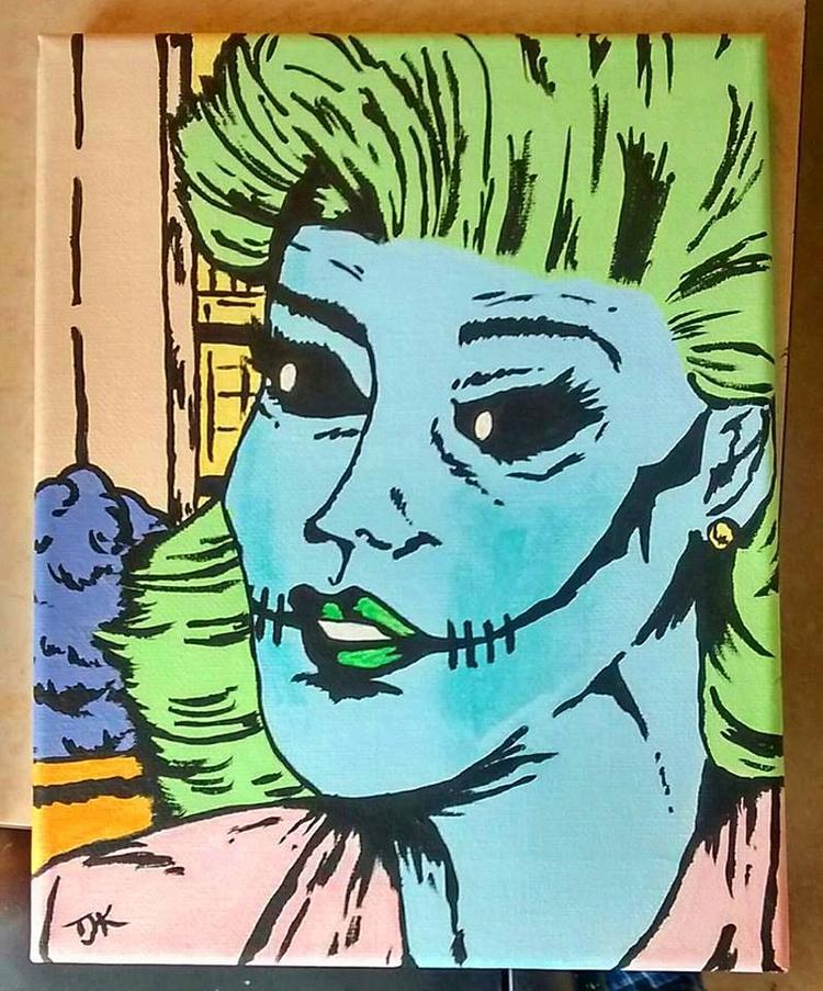 Zombie Dearest, 8x11 acrylic ca - tjkernan   ello