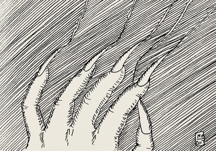 Day 9 / Screech - inktober, inktober2017 - martino_pietropoli | ello