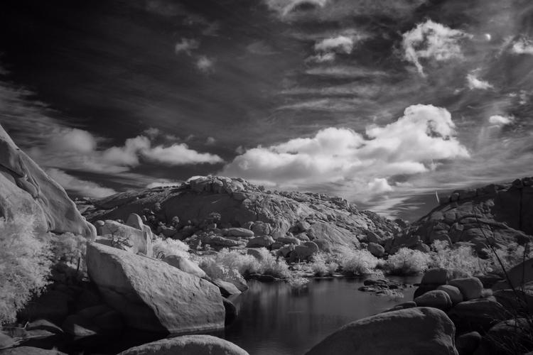 Barker Dam digital infrared - joshuatree - mlhannahfineart | ello