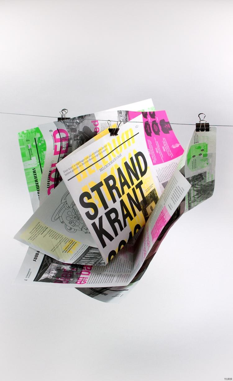 BelcrumBeach ~ Krant Spreads - newspaper - yurrstudio | ello