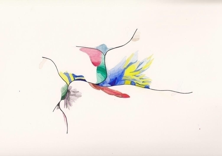 Abstract lyric - art, painting, watercolor - lyrstyle | ello