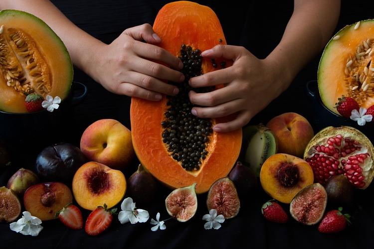 texture, fruit, portrait, woman - yiramos | ello