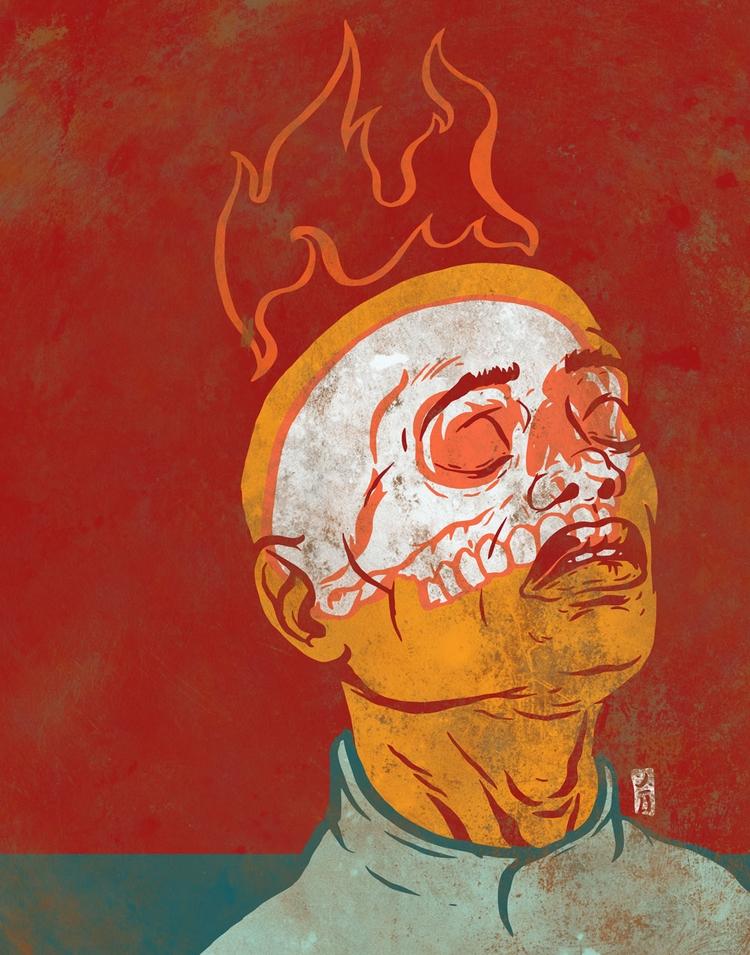 Wages Sin - illustration - thomcat23 | ello