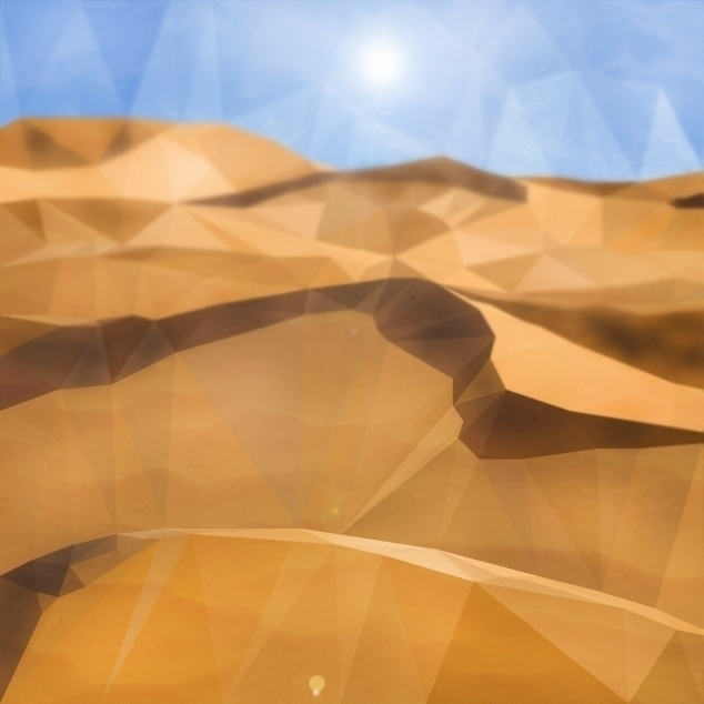 Saharan - landscape, desert, lowpolyart - emirhamzah | ello