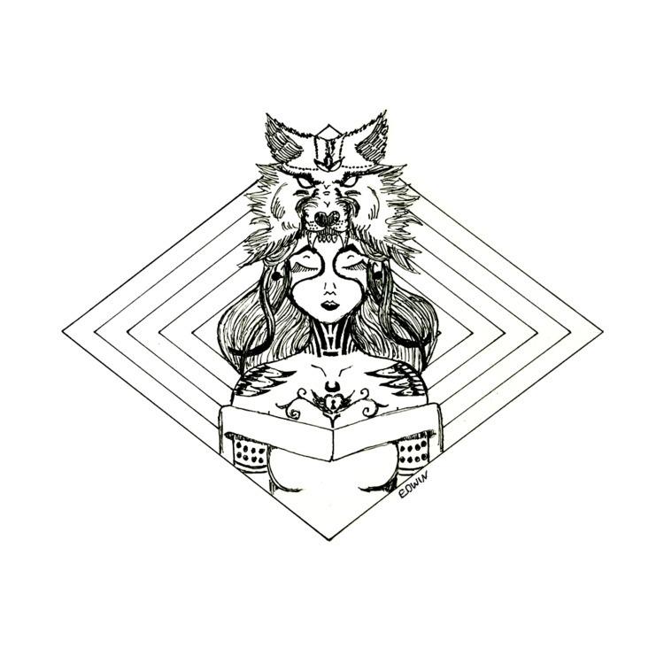 | Inktober - fierce 14.10.2017  - edwln | ello