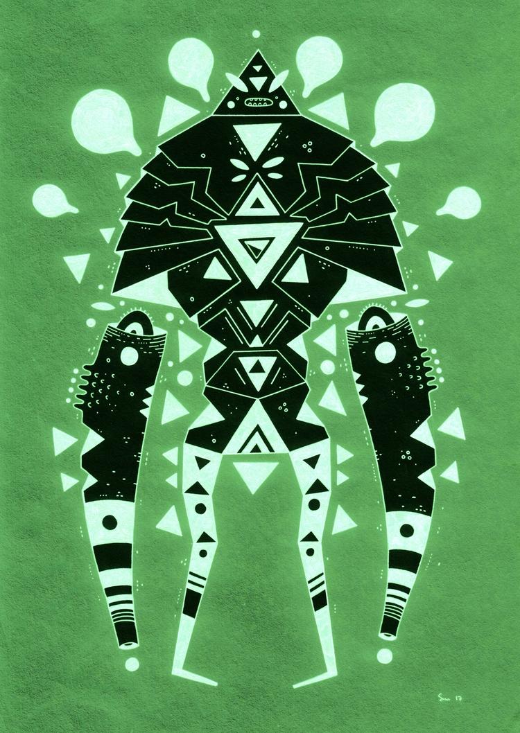green trangs saturdays - inktober - cosmicnuggets | ello