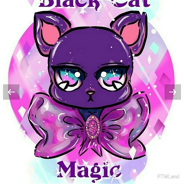 Black Cat Magic Digital Art 201 - aidadaism | ello