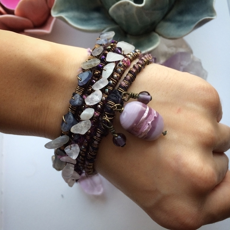 Beautiful amethyst rose quartz  - amilliadesigns | ello