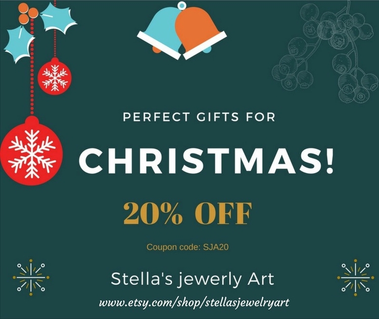 20% 11/30/2017 Unique handmade  - stellasjewelryart | ello