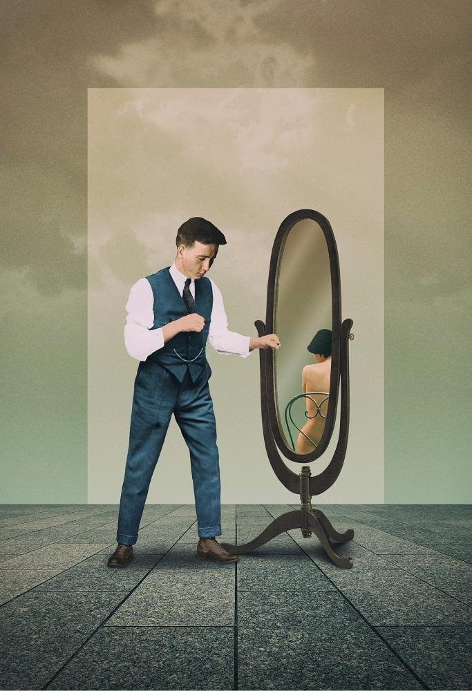 Belated Mirror, 2017 - collage, ellocollage - julienp | ello