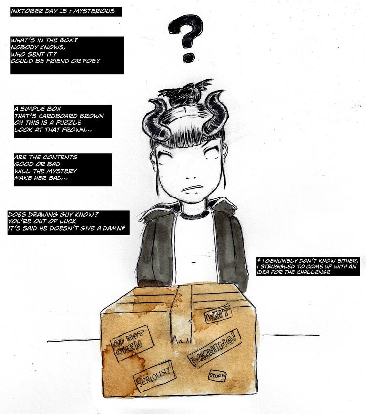 Inktober Day 15 - mysterious, makecomics - adicarter | ello