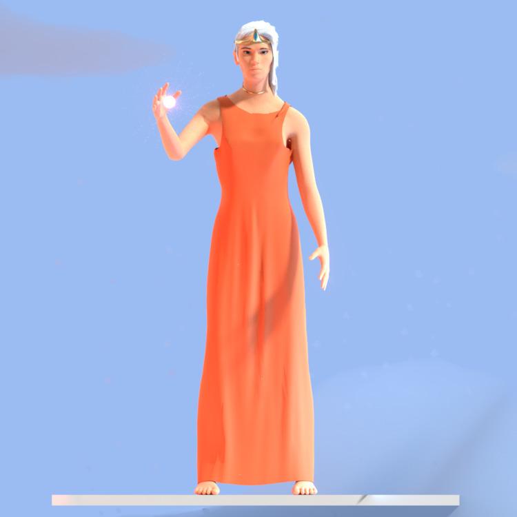Goddess#goddess - 3d, 3dmodel, model - solutuminvictus | ello