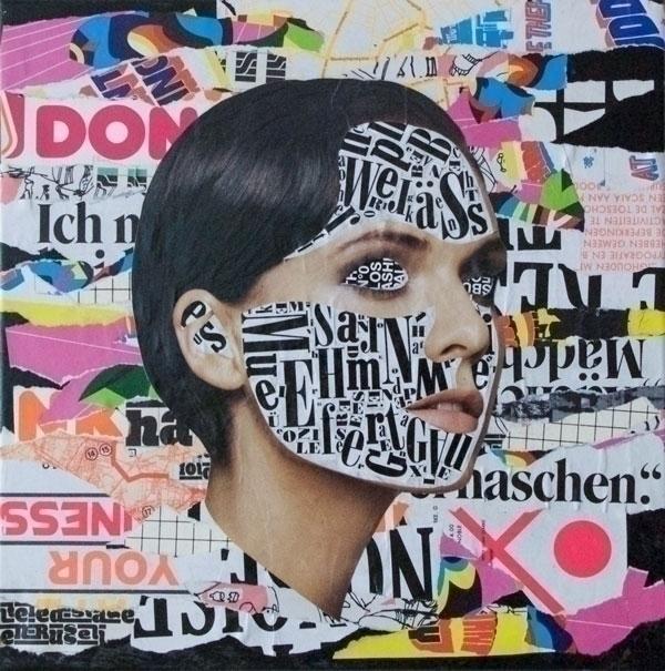 Analog collages, mixed media ca - deshalbpunkt | ello