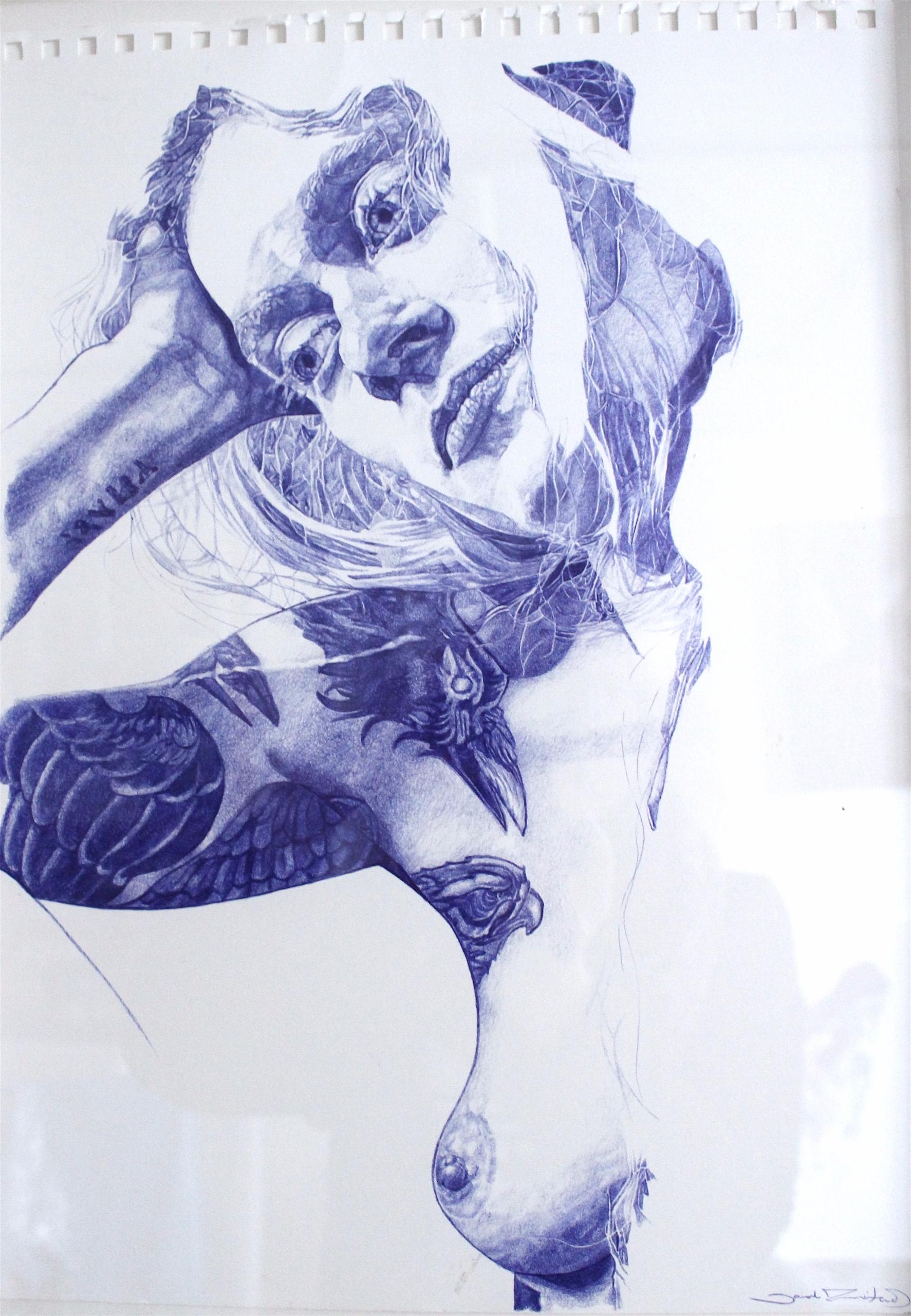 'Untitled 5' bic biro paper, 30 - sarahmuirhead | ello