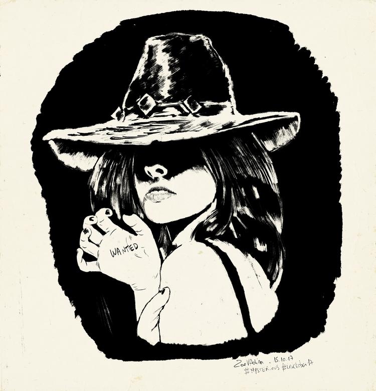 mysterious, illustration, inkwork - zoe_vadim | ello