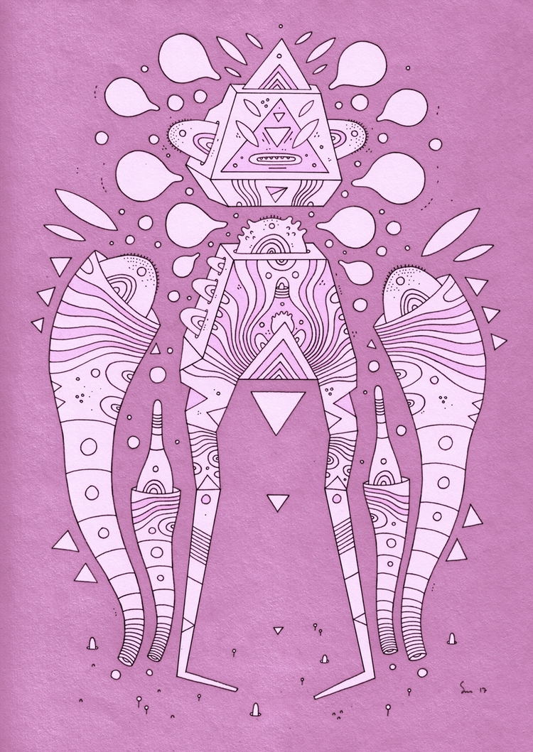 pink warriors, prawn defender - cosmicnuggets | ello