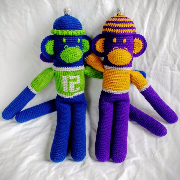 Happy thought monkey, hat order - miniaturemonkeycreations | ello
