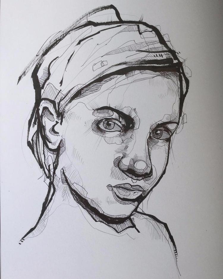 heres minimalist style portrait - jordansummers | ello