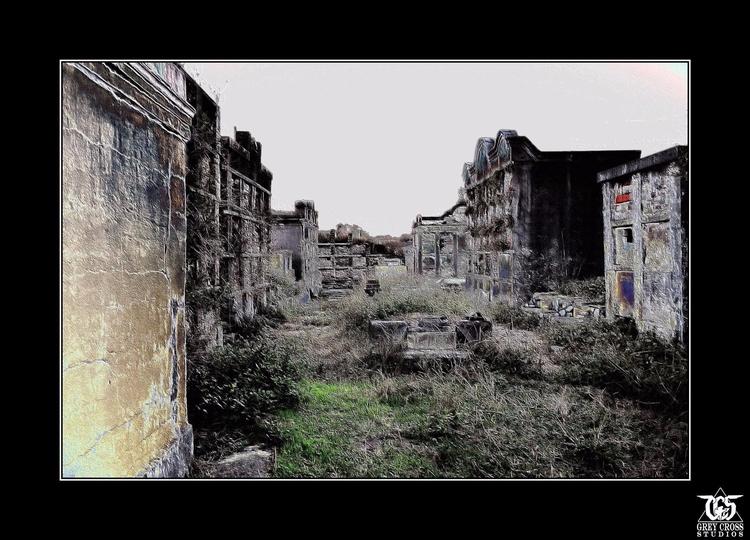 Walking City Dead - ghosts, spirits - greycrossstudios | ello
