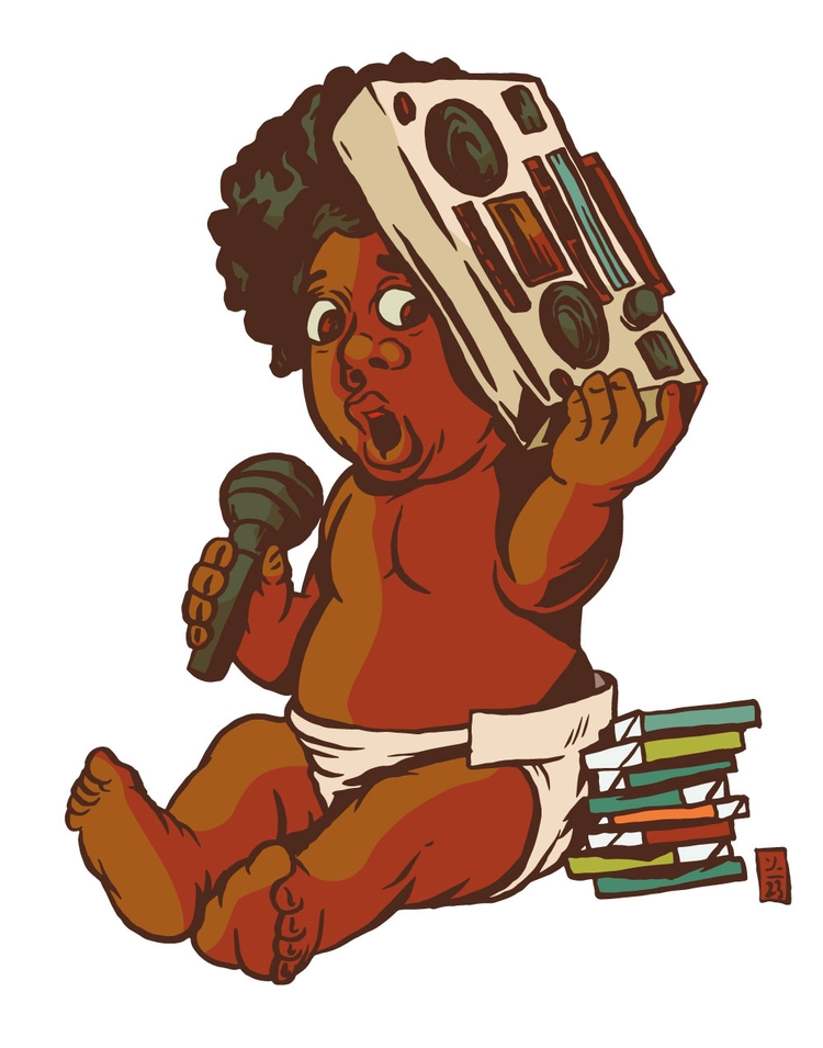 HipHop Baby - illustration - thomcat23 | ello