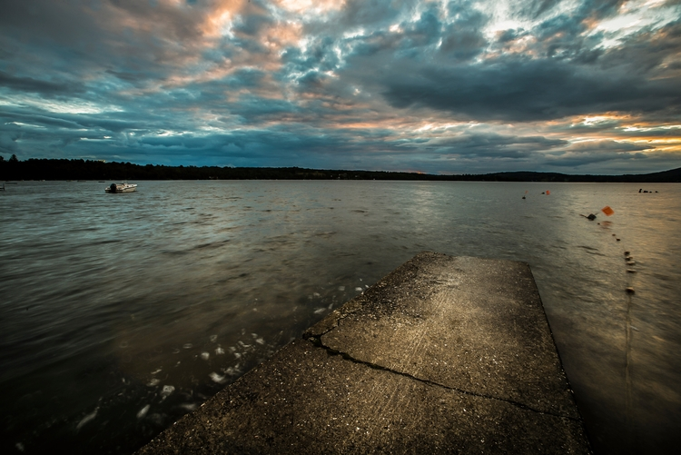 Sunset, Caspian Lake, Greensbor - markcollier | ello