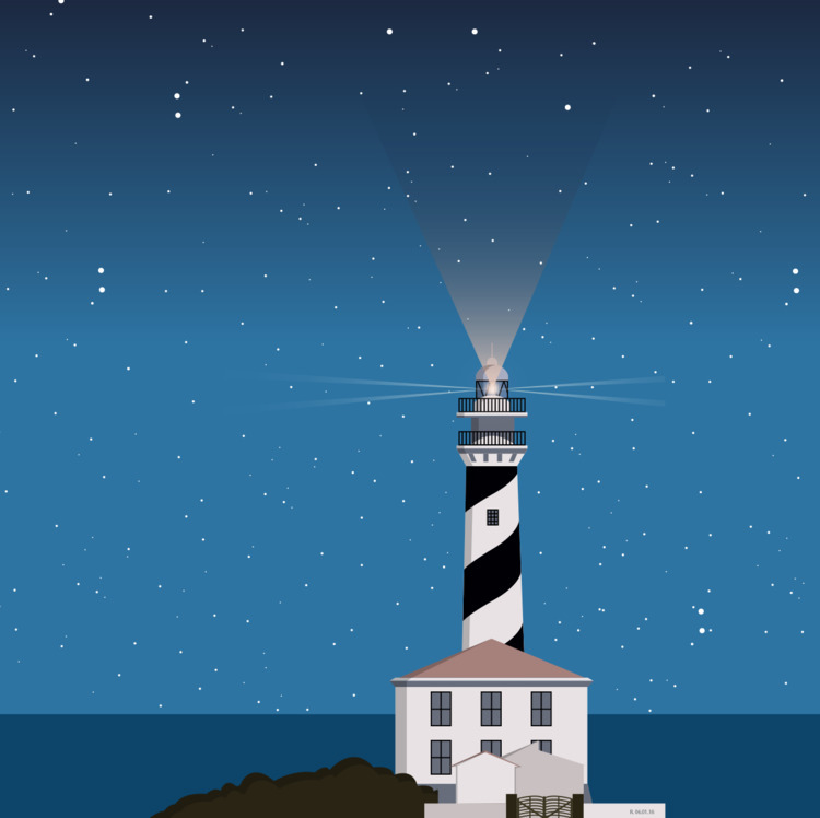 Night - menorca, illustration, digitalillustration - roserolivella | ello