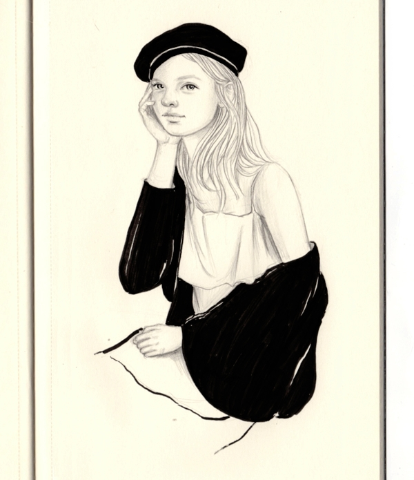 Bonjour - bonjour, drawing, sketch - j0eyg1rl | ello