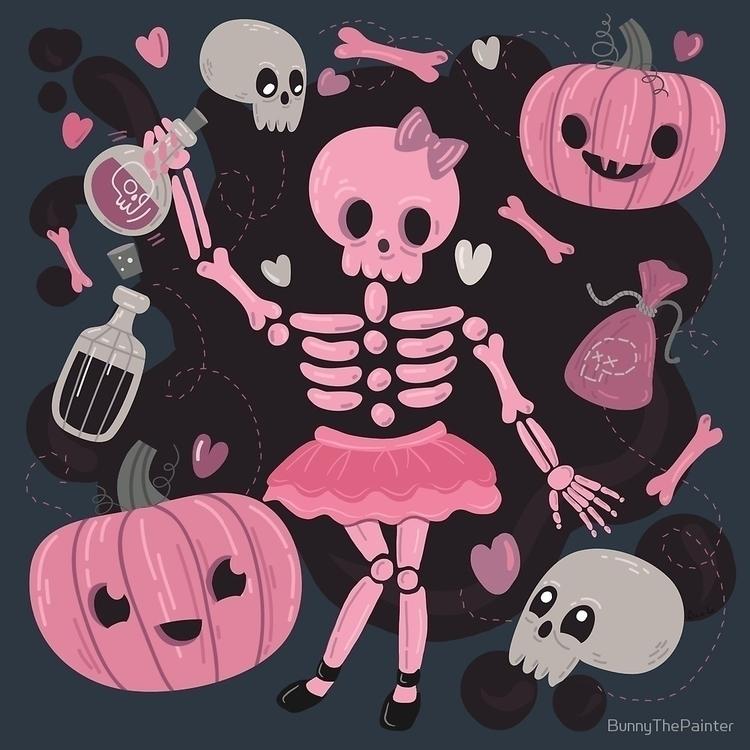 """Love Potion"" spooky fun painti - littlebunnysunshine   ello"